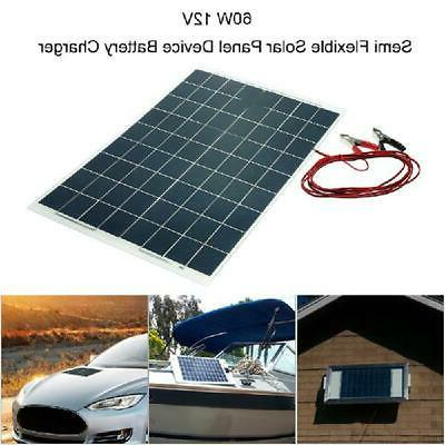 Anself 60W 12V Semi Flexible Solar Battery