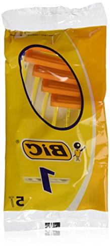 Bic Disposable Razor Shavers Normal Single Blade 5-Count