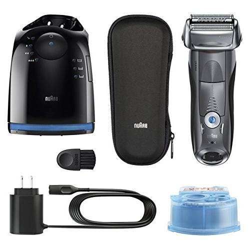 Braun Electric Razor Electric Shaver, Wet Travel Case & Charge Grey Cordless Razor Pop Up
