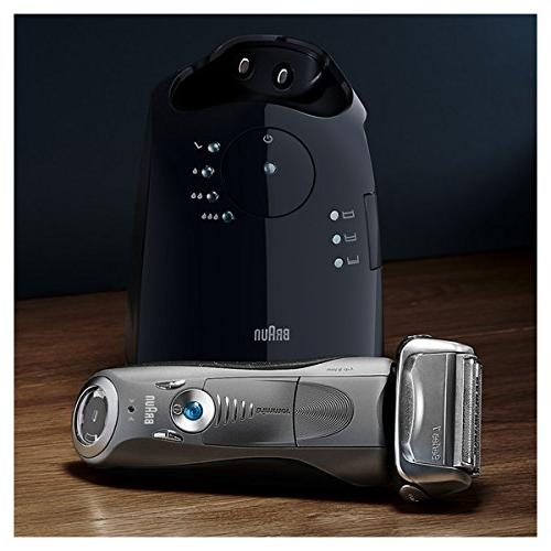 Braun 7 7865cc Razor / Electric Foil Shaver, Wet & Dry, Travel with Clean & Charge Grey Cordless Pop