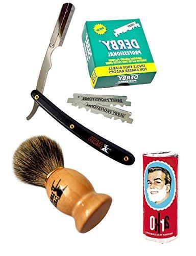 Classic Samurai Men Premium Shaving Set with CS-101B Stainle