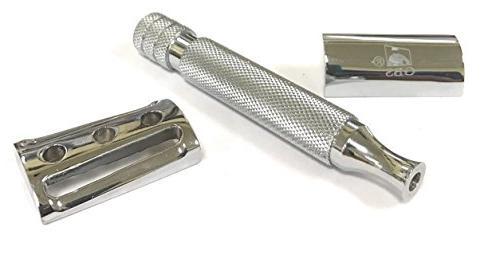 GBS Heavy DE Slant Safety + Wet Shaving Bowl, Soap, Travel Case, Brush & Stand + Remove that Stubble Your