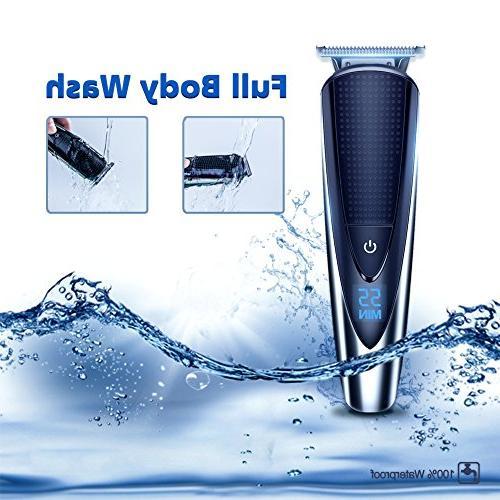 Hatteker Mens Kit Body Trimmer Hair Ear Trimmer Kit Body Waterproof USB All-in-One