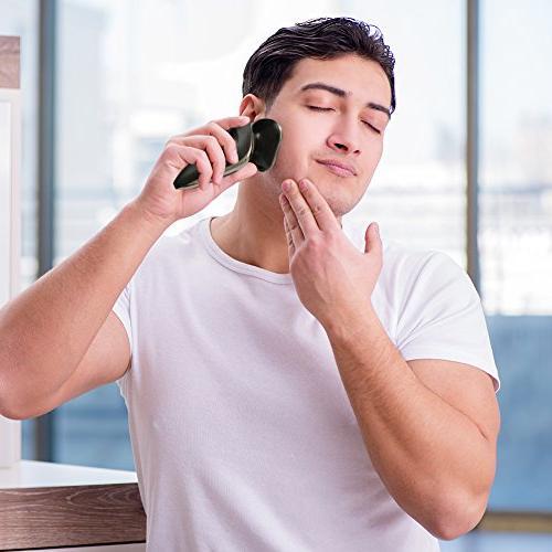 Hatteker Electric Razor Beard Shaver Cordless Wet/Dry 2 in USB Black