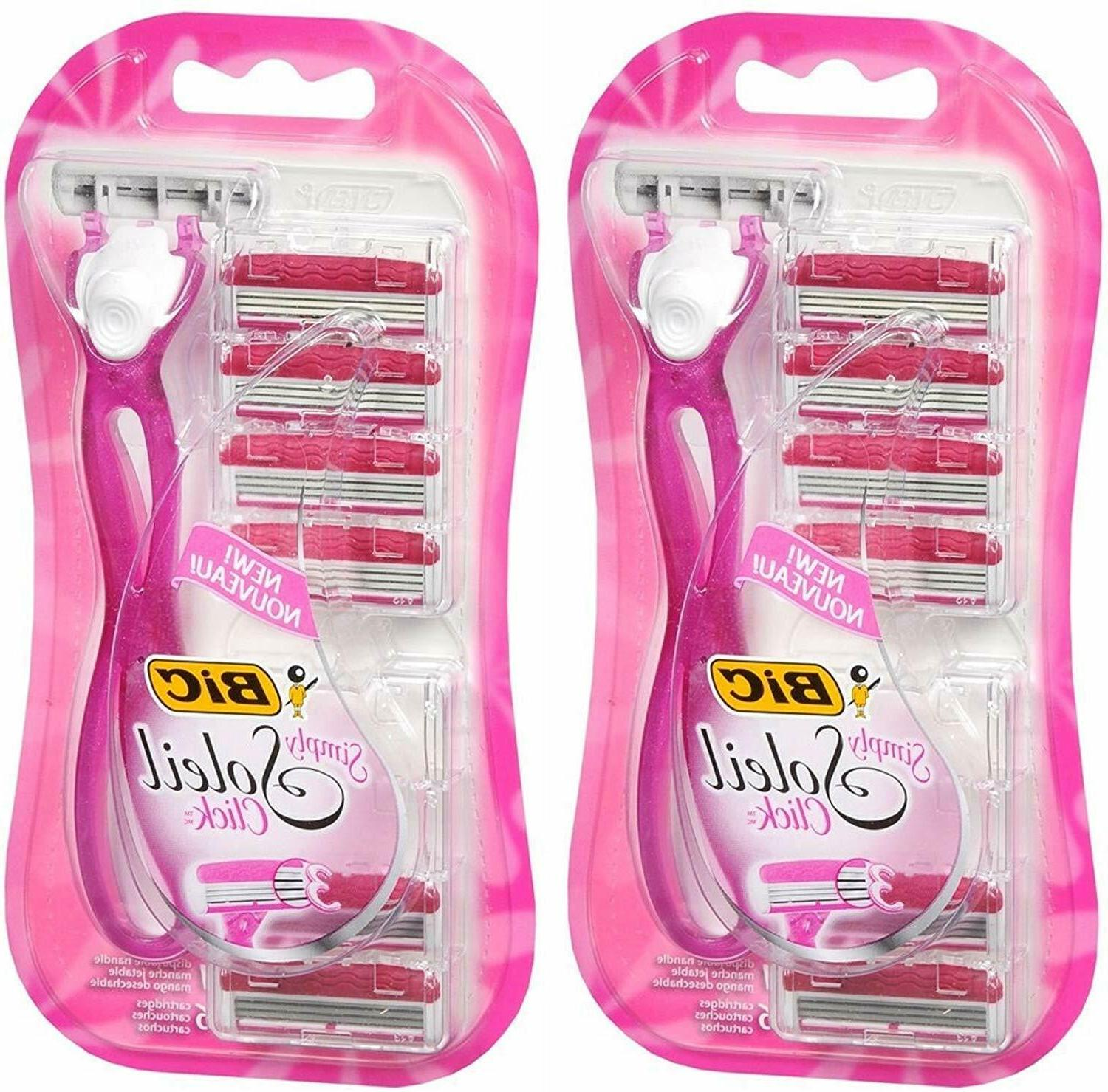 NEW - BIC Simply Soleil Click for Women - 6 Cartridges + 1 H