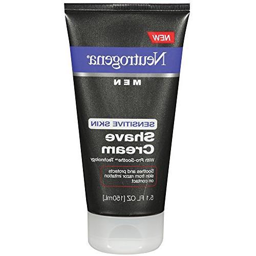 Neutrogena Men Pro-Smoothe Sensitive Skin Shave Cream, 5.1 O
