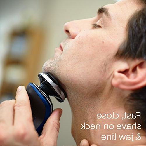 Philips Norelco Electric Shaver 5570 & S5572/90, Turbo+ and Nose Trimmer