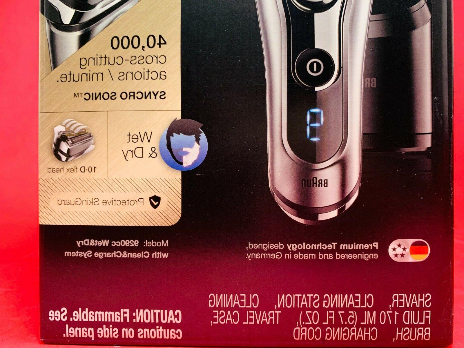 **BRAND Series 9290cc Advanced Clean Wet Dry SHAVER SEALED