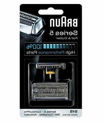 Braun 8000 360 Complete Foil/Cutter Block for Models 8995, 8