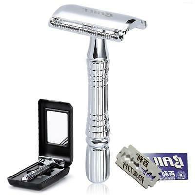 classic barber double edge safety razor shaver
