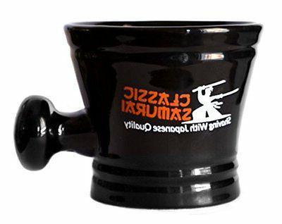 Classic Samurai Deluxe Shaving Mug Black