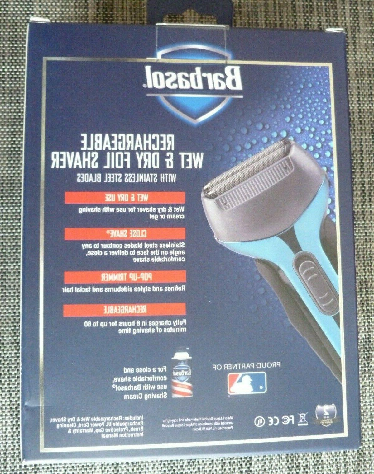 Wet & Dry, Rechargeable, Foil w/Trimmer