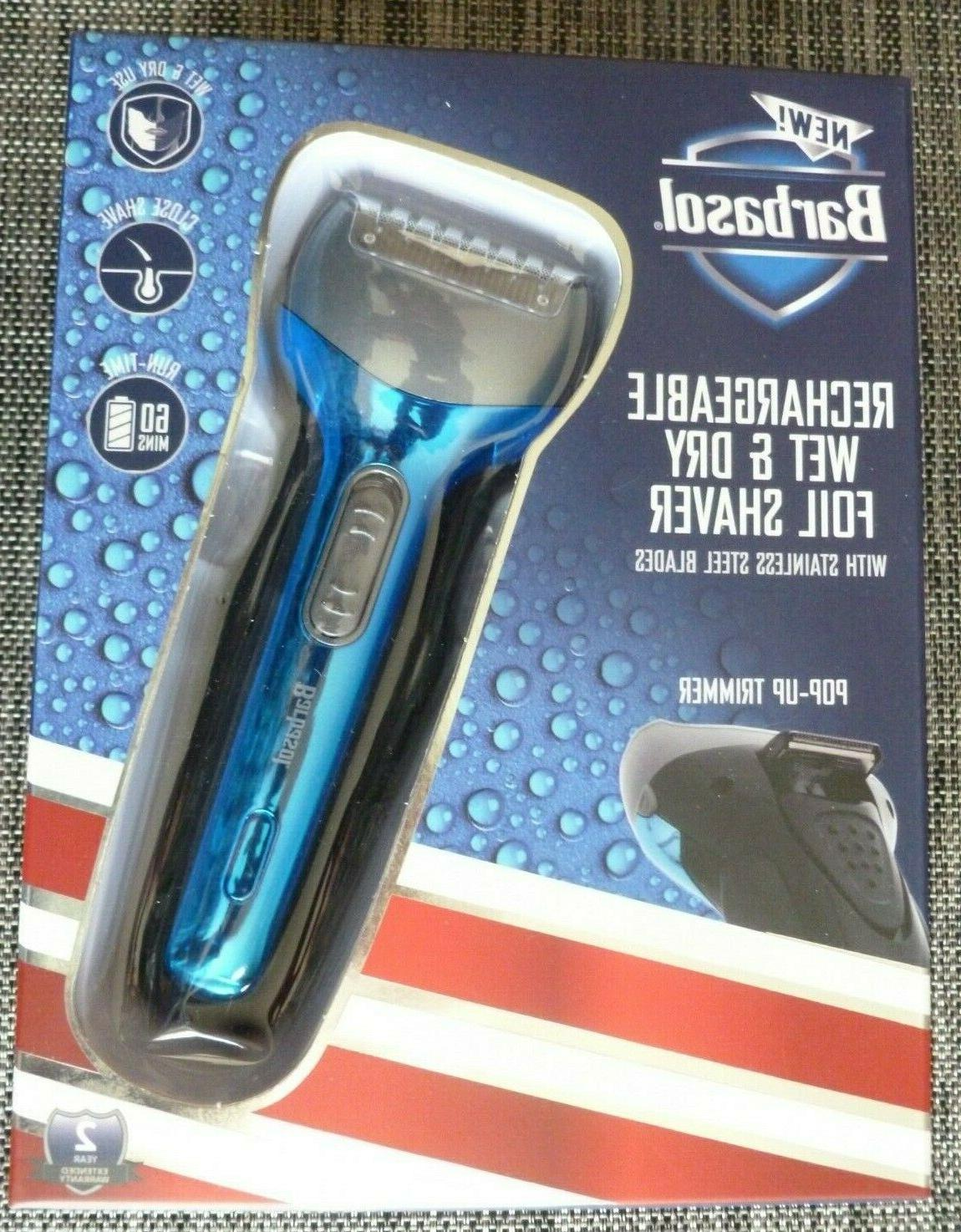 e barbasol wet and dry rechargeable foil