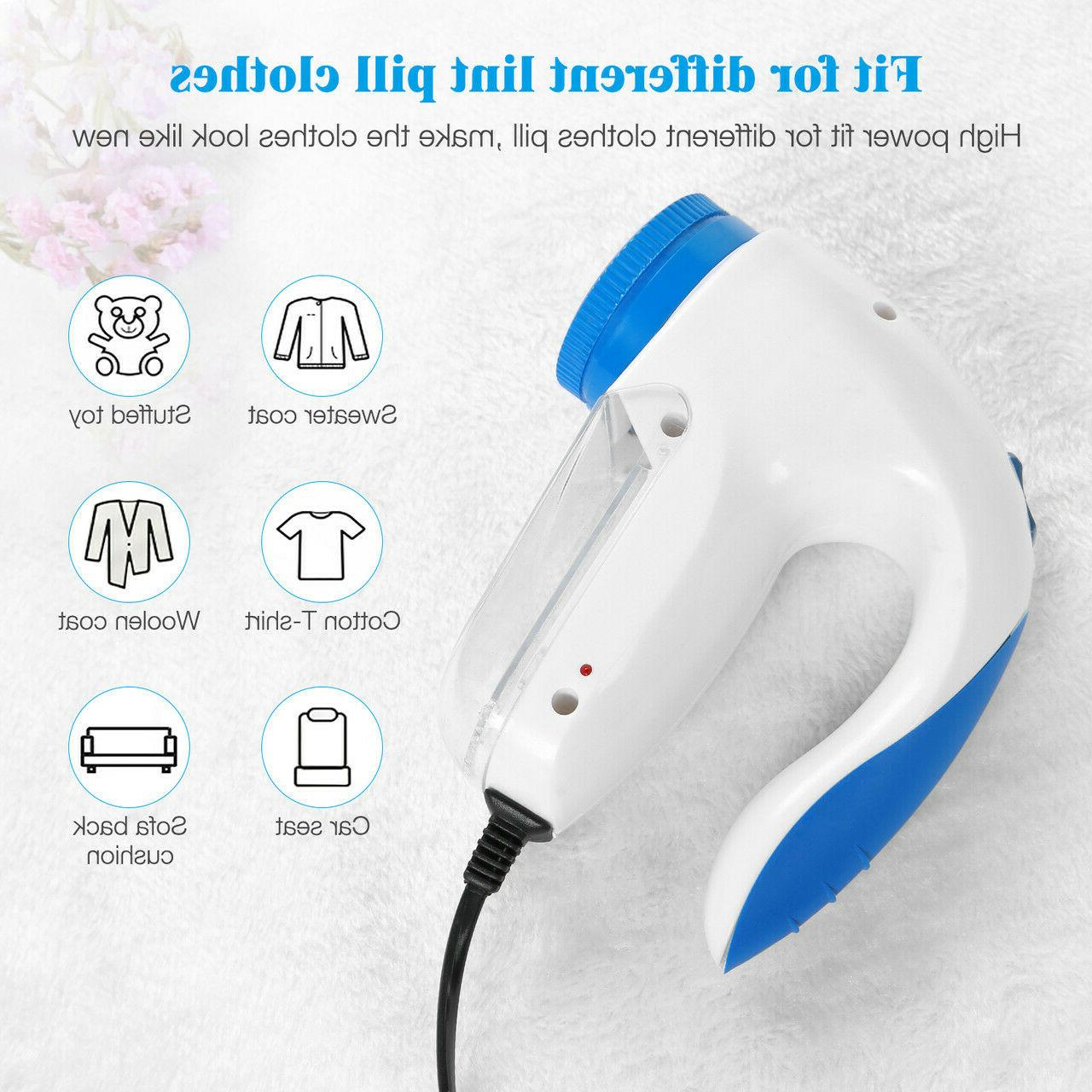 Portable Electric Clothes Pill Fluff Remover Sweater Fuzz Shaver