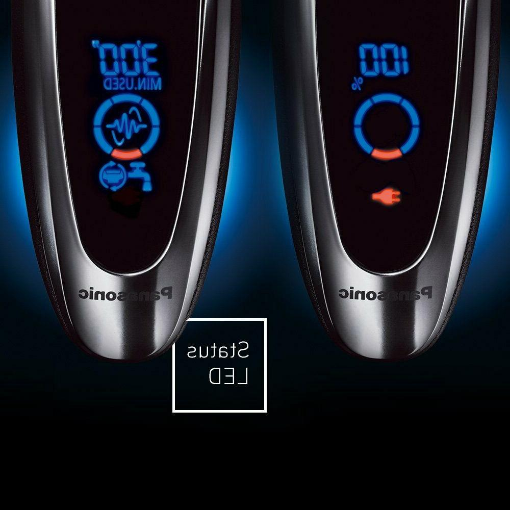 Panasonic ES-LV65-S Arc5 Men's 5-Blade Electric Razor with Shave Sensor