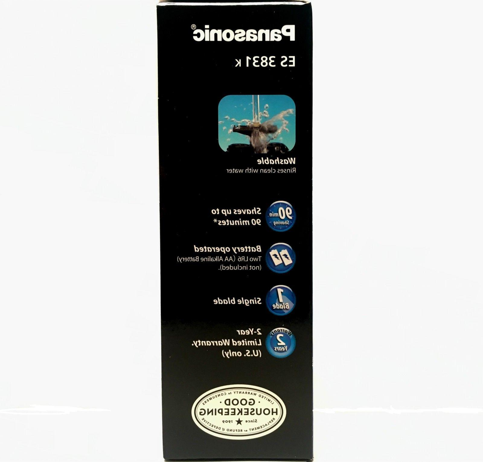 Panasonic ES3831K Portable Single Blade Shaver. Shaving Machine Washable
