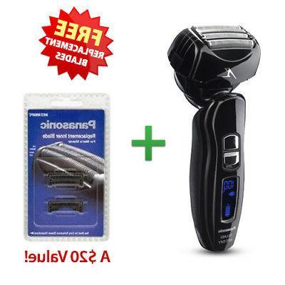 Panasonic ESLA93 Mens Nanotech Wet / Dry Shaver With Free Re