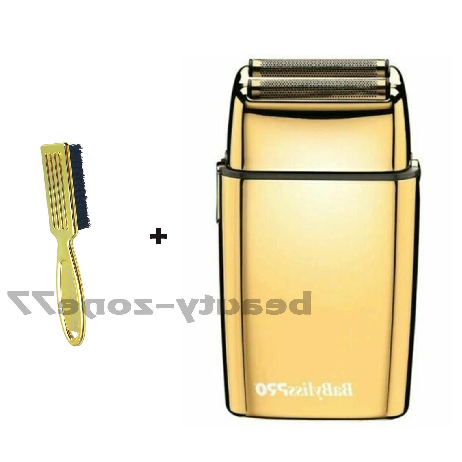 foilfx02 cordless metal gold double foil shaver