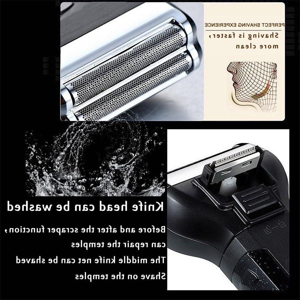 Becornce Beard Nose Trimmer Massage Razors Men Portable