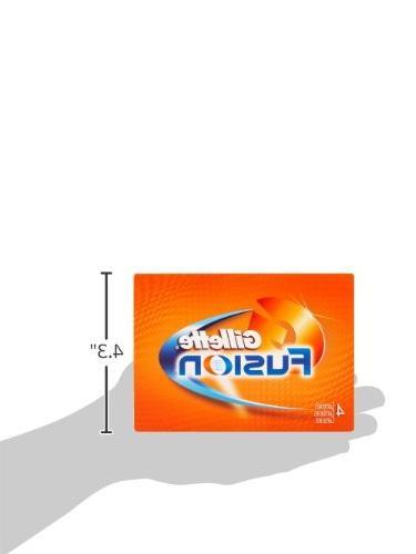 Gillette Fusion Manual Razor Refills, 4 Count
