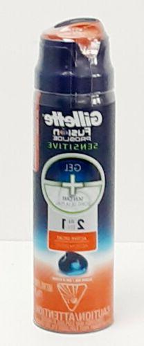 Gillette Fusion Proglide Sensitive Gel + Skin Care 2 In 1 Ac