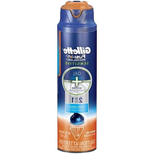 Gillette Fusion ProGlide Sensitive Shave Gel, Ocean Breeze -