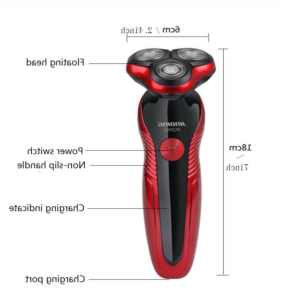 Gold&Red Rechargeable Washable Electric Shaver Razor