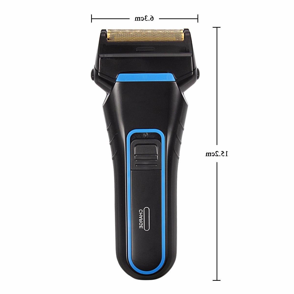 Kemei Men <font><b>Shaver</b></font> Blades Cordless Dual <font><b>Foil</b></font> Rechargeable Beard