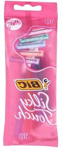10-ct Packs Women's BIC Silky Touch Twin Blade Disposable S