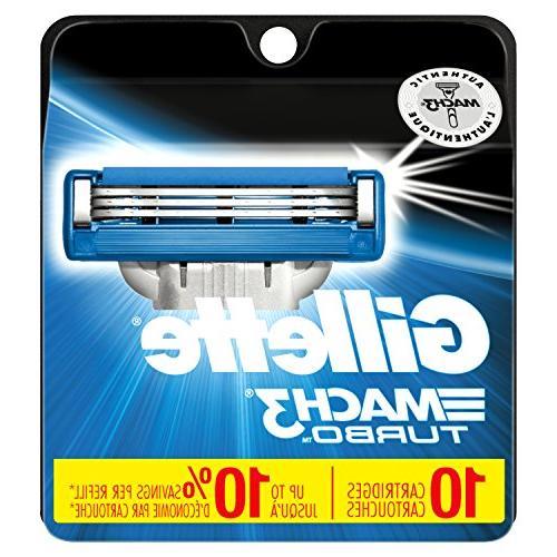 Gillette Turbo Men's Razor Blade Refills, Count, Blades
