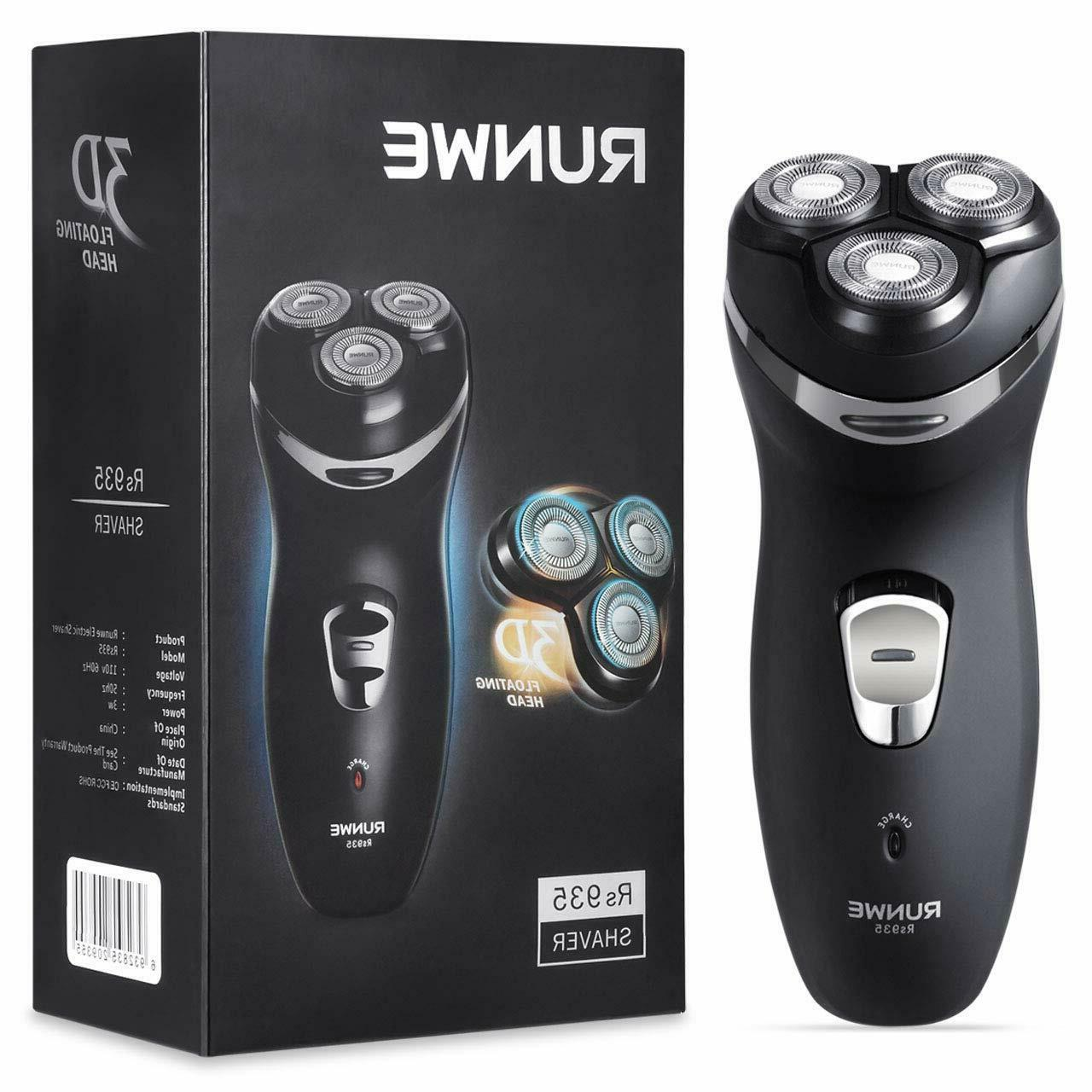 Men's Cordless Rechargeable Rotary Shaver with Pop-Up Beard