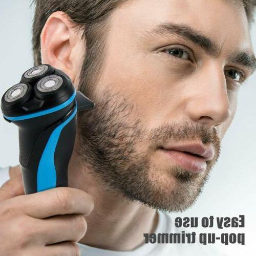 Men's Electric Razor Shaver Pop-up Trimmer, & Dry Razor