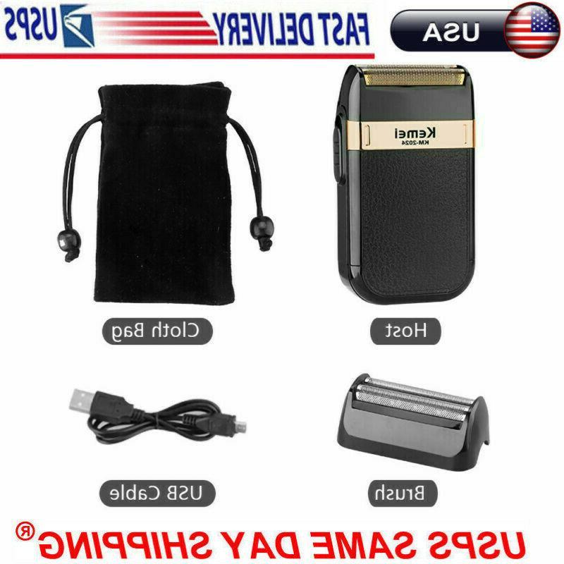Men Shaver USB Machine Twin Blade