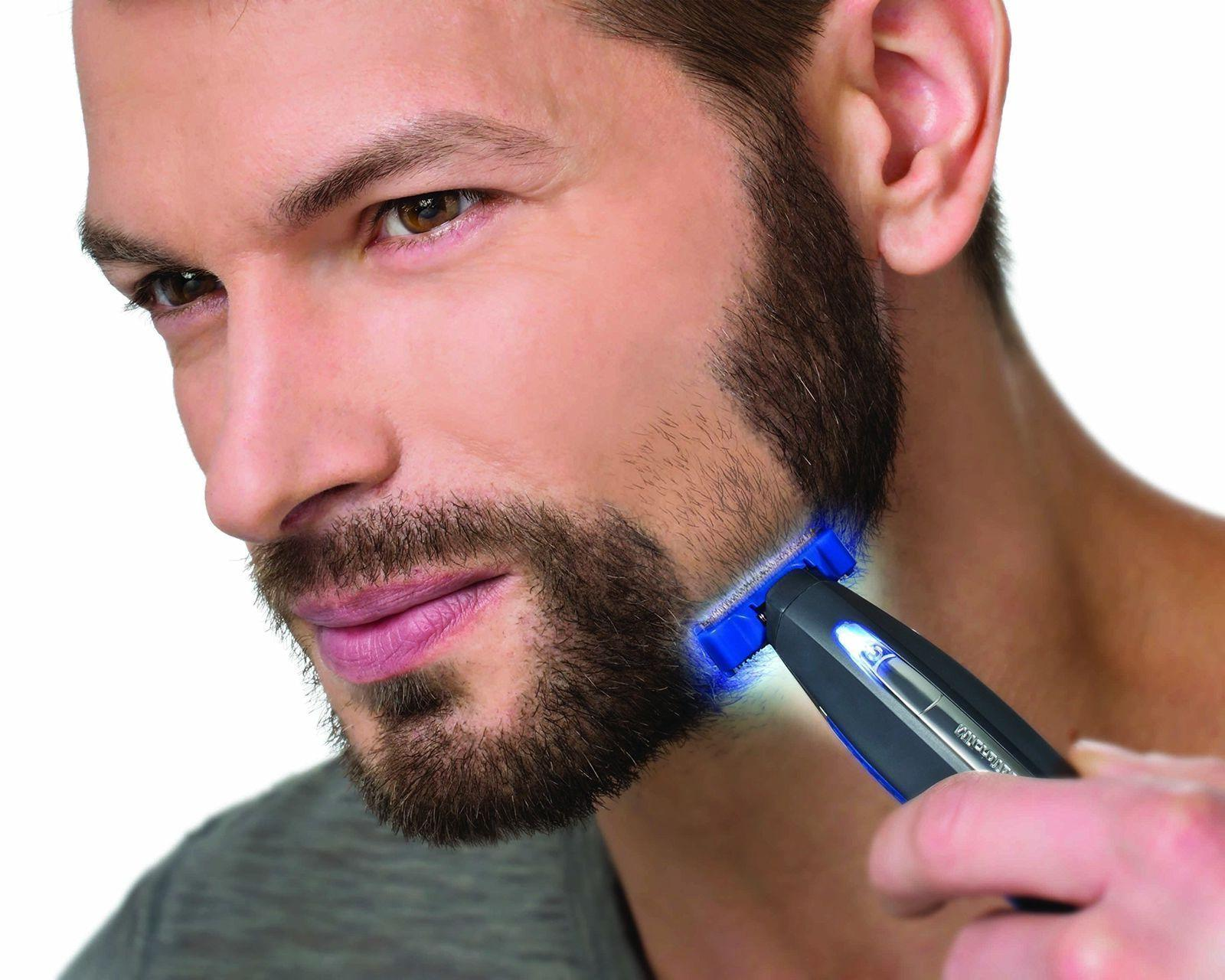 Micro Touch Mens SOLO Electric Trimmer Shaver 3 Combs Blades