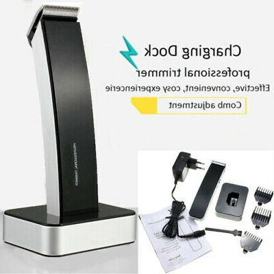men wireless electric rechargeable hair clipper trimmer