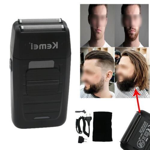mens electric dual foil shaver comfort beard