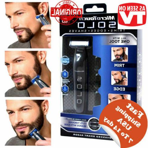 micro touch solo rechargeable trims edges razor