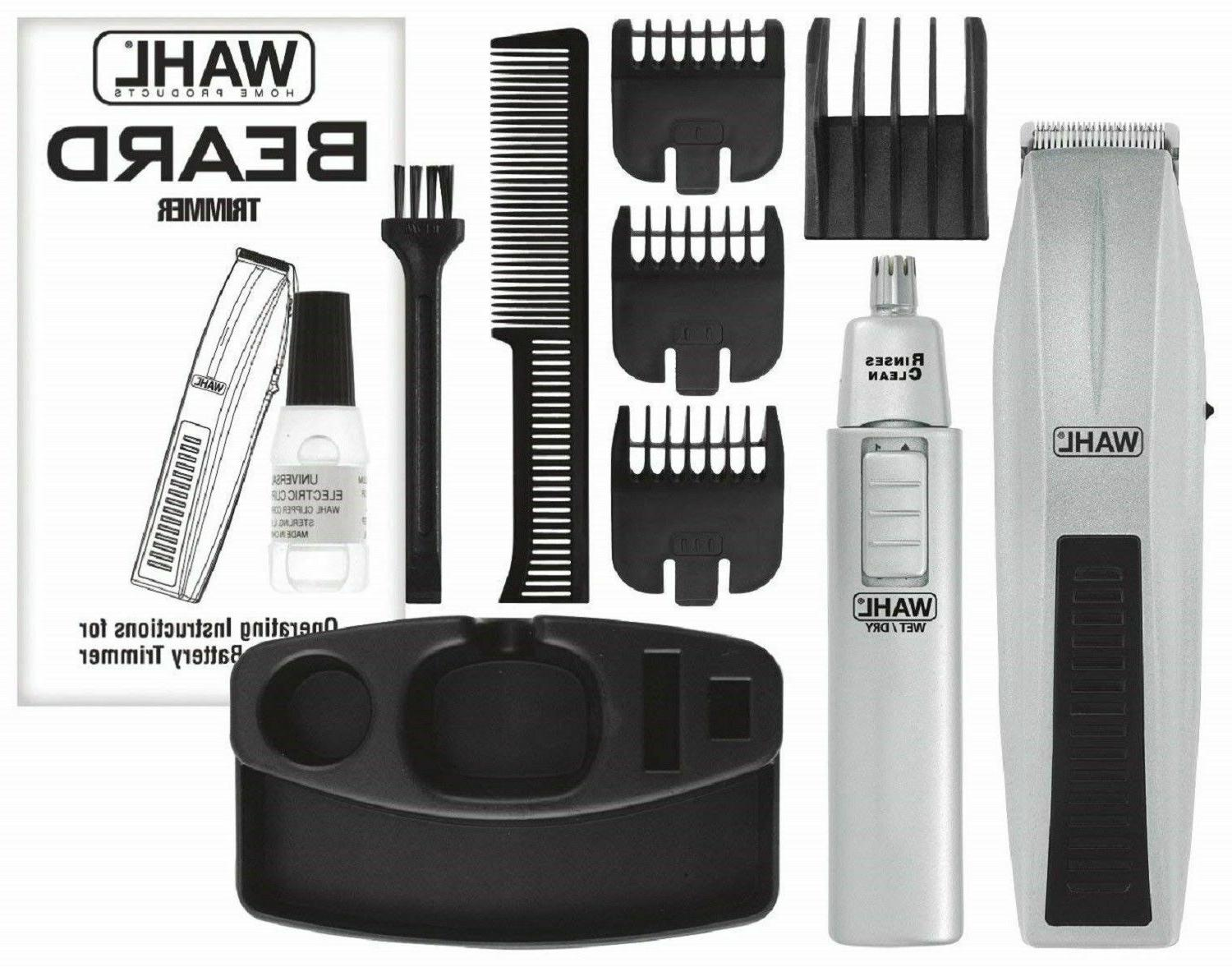 WAHL MUSTACHE AND TRIMMER Ear Nose Brows Grooming Set
