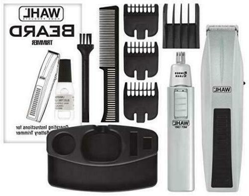 mustache beard trimmer shaver set