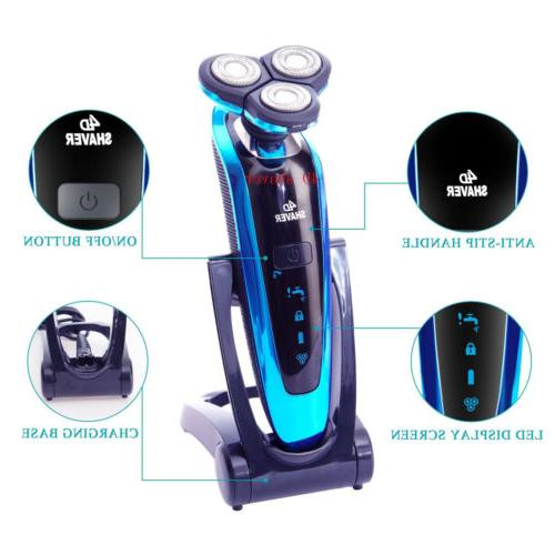 Electric Razor Dry Cordless Rotary New