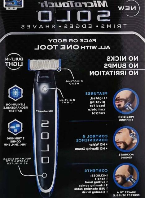 NEW SOLO MicroTouch Rechargeable Trimmer