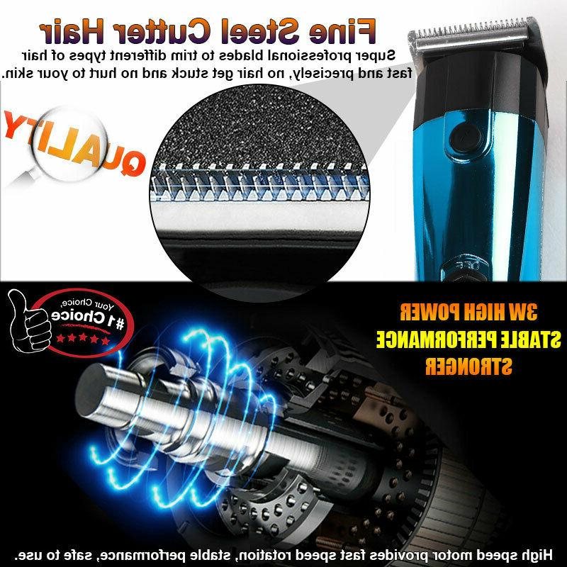 Nose Hair Trimmer Steel Cordless Shaver W/Accessories
