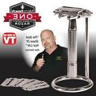 Micro Touch One Classic Safety Razor 12 Blades + Stand Mens