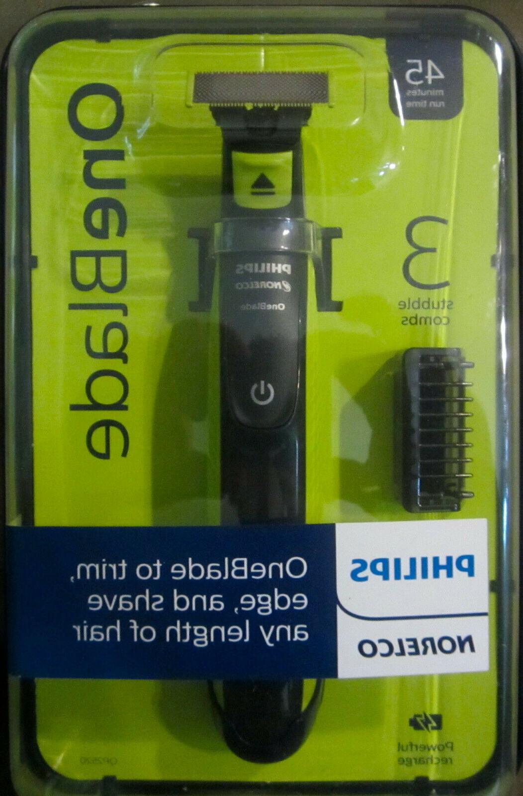 Philips Norelco OneBlade hybrid electric trimmer and shaver,