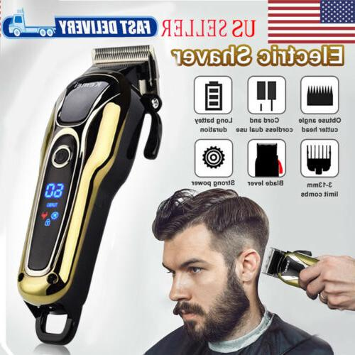 professional electric men hair clipper shaver trimer