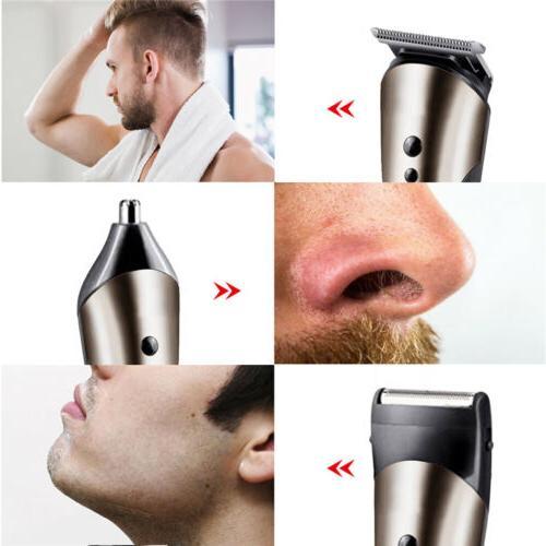 Rechargeable Hair Razor Electric Shaver Cordless Men Nose Trimmer Set