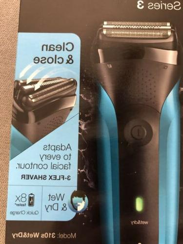 BRAUN SERIES 3 310S WET & SHAVER Close Brand New