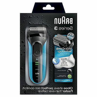 3040s Wet Dry Mens Electric Rechargeable Razor