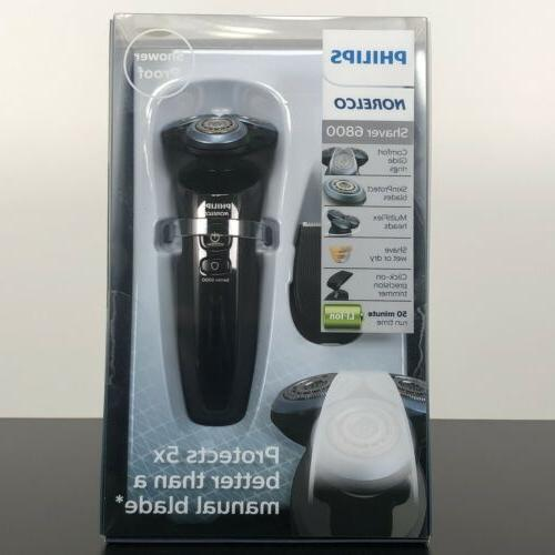 series 6800 wet and dry electric shaver