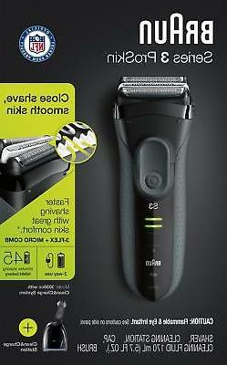 Braun Series 3 3050 Electric Shaver with Cleaning Center, El